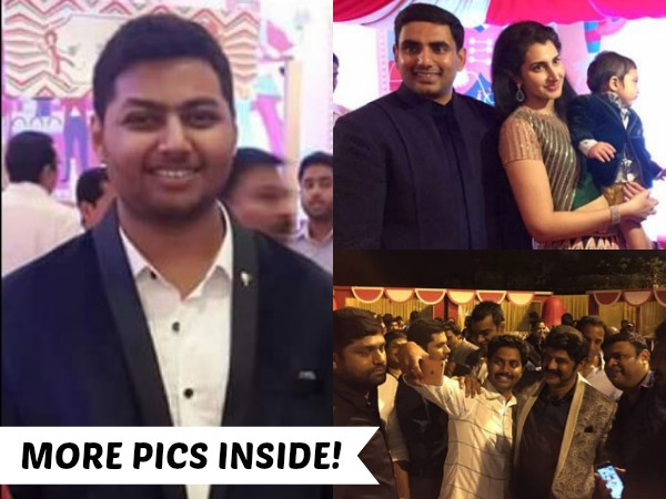 PHOTOS: Nandamuri Mokshagna Hogged Away The Limelight At Nara Devansh's First Birthday Celebrations