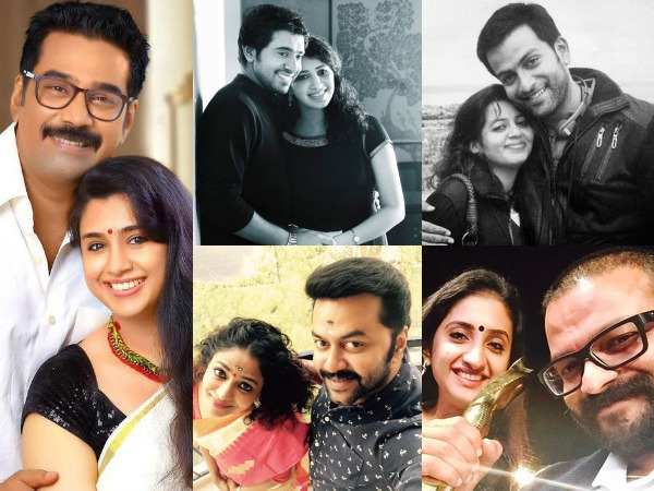 Malayalam Cinemas Happily Married Star Couples Filmibeat