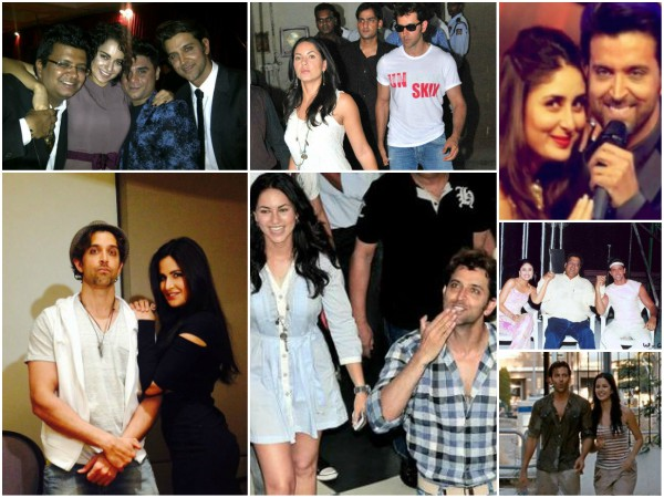 Hrithik Roshan's Rare Adorable Pics With His Alleged Lovers!
