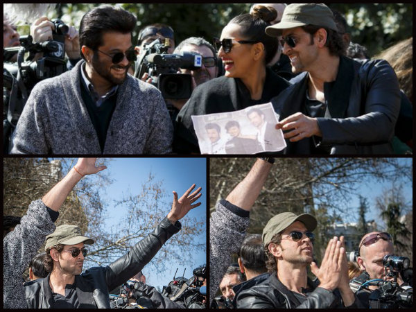hrithik sonakshi pictures from iifa at madrid