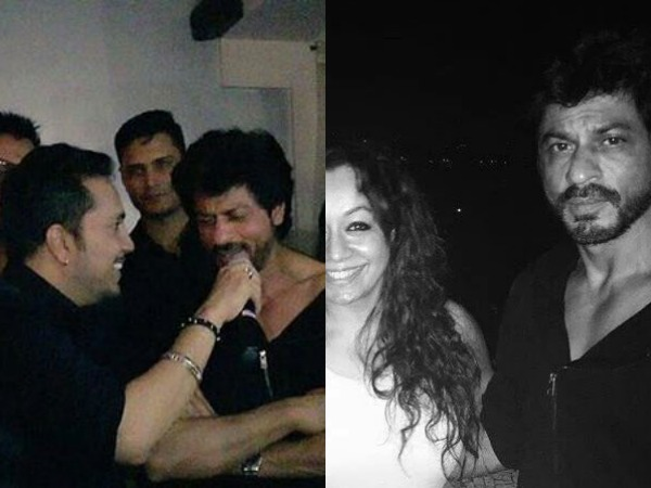 Shahrukh Khan Spotted At Karim Morani's Birthday Bash