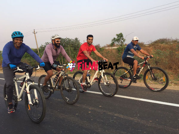 PICS: Puneeth Rajkumar's Powerful Ride To Nandi Hills!