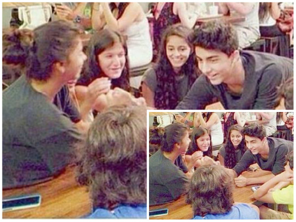 aryan khan suhana khan latest pics of their cute fight