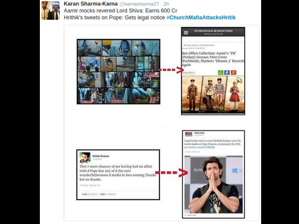 Church Mafia Attacks Hrithik Roshan, Twitteratis Go Crazy!