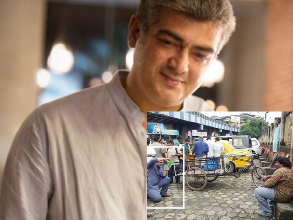 Ajith In Vedalam Sets