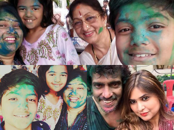 PICS: Mr & Mrs Upendra Celebrates Holi With Family And Friends!