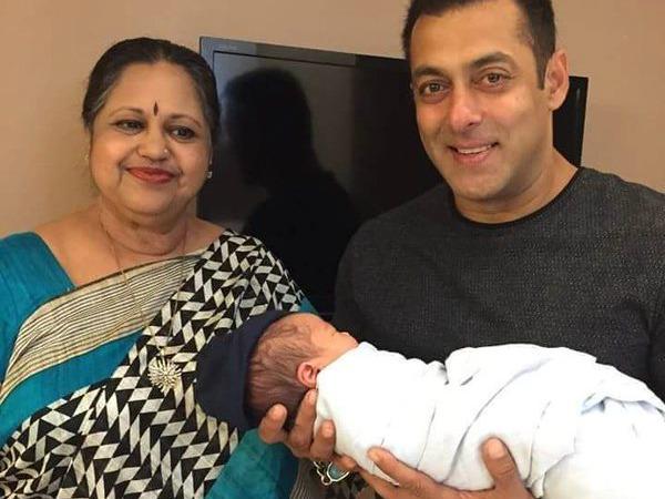 Salman Khan New Picture With Arpita Baby Ahil Salman Khan New Photo