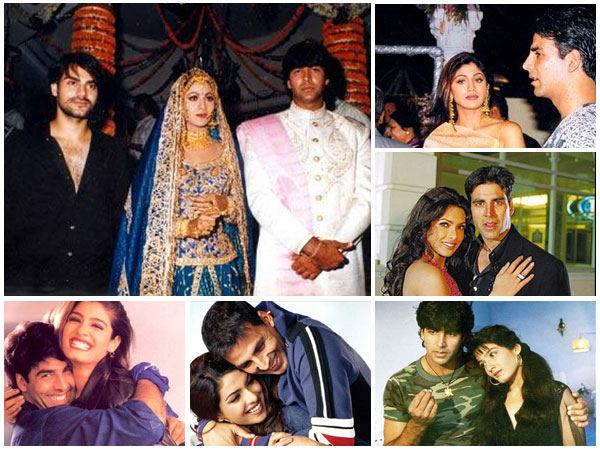 Original Loverboy Of B'Wood: Akshay Kumar's Rare Pictures With Alleged Ex Raveena, Shilpa, Priyanka