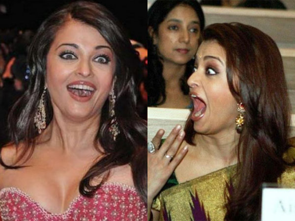 Aishwarya Rai Funny Faces