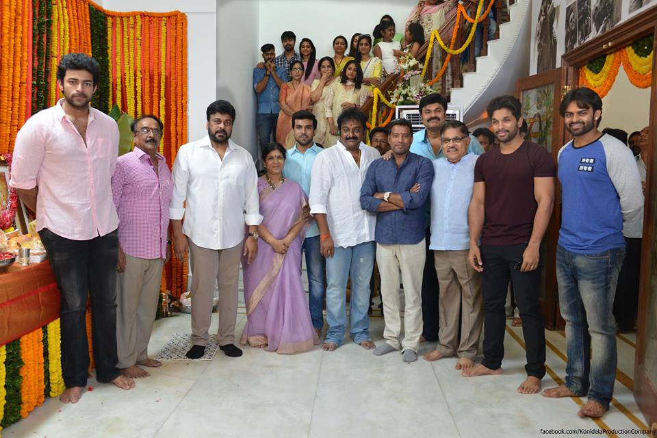 Photos Chiranjeevi S 150th Movie Launched Mega Family