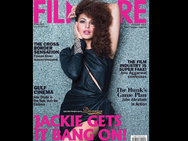 Jacqueline Fernandez Sports An Afro Look And Dazzles On Filmfare Cover!
