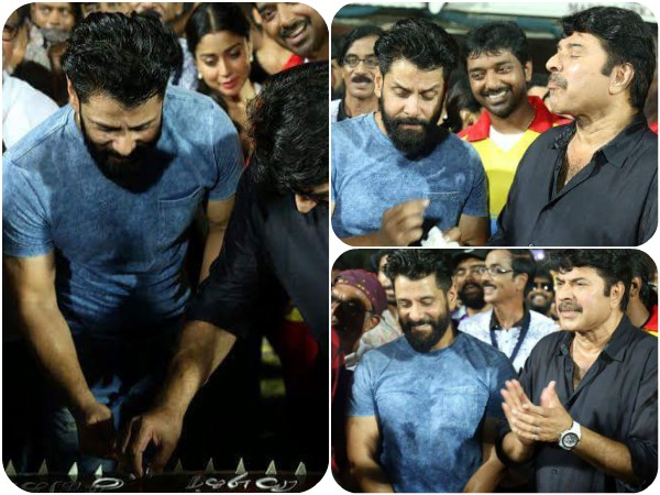 IN PICS: Vikram Celebrates Birthday With Mammootty