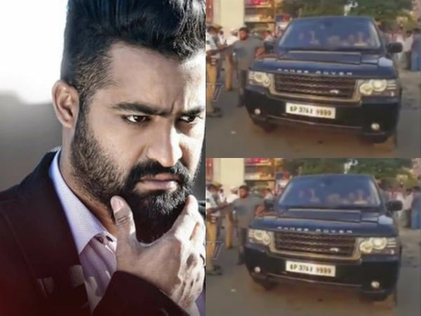 ntr fined by hyderabad traffic police filmibeat. Black Bedroom Furniture Sets. Home Design Ideas