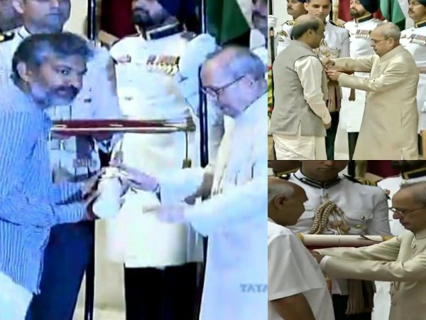 PHOTOS: Rajamouli, Ramoji And Rajini Were Honored With Padma Awards