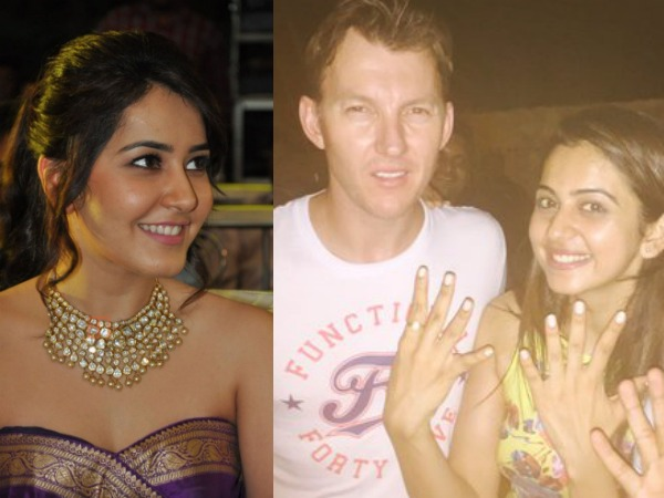 PIC TALK: Rakul Preet & Raashi Khanna's Fan Moment With Brett Lee
