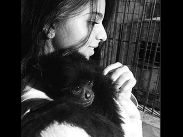 Suhana Khan Pic With Chimpanzee