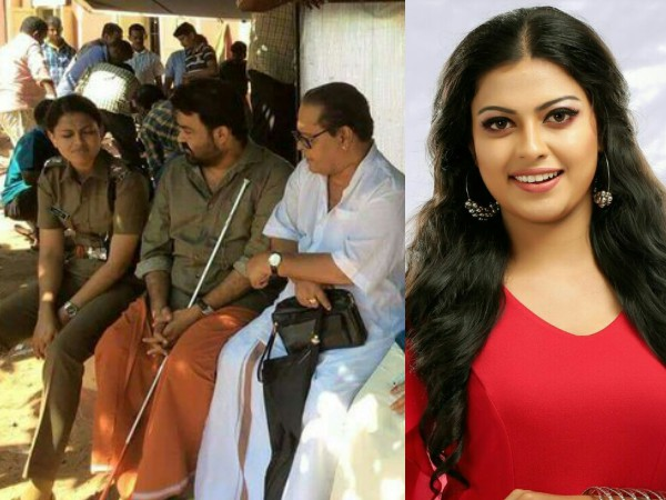 Anusree Plays Police Officer In Mohanlal Starrer Oppam Filmibeat