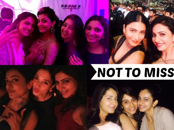 When Tollywood Actresses Bonded Over Selfies