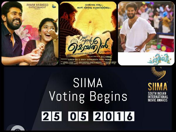 SIIMA 2016 Nominations Malayalam Movies - Filmibeat