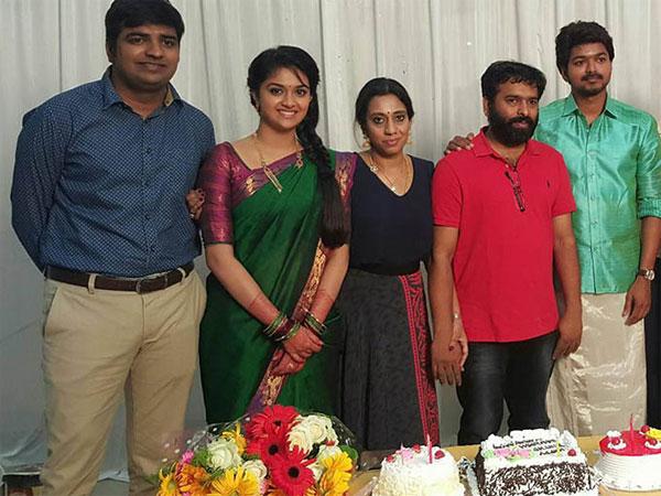 Photos: Vijay Celebrates Birthday With Vijay 60 Team - Filmibeat