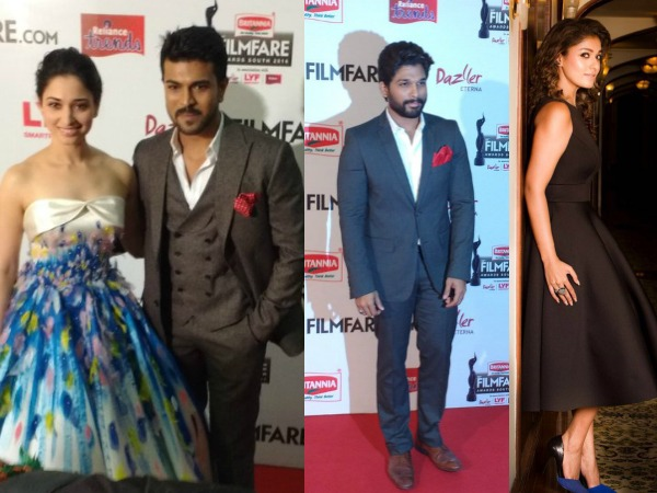 #FilmFareSouth: Tollywood Celebs Kills It On The Red Carpet: Allu Arjun, Ram Charan, Nayantara!