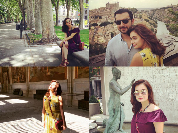 Dia Mirza Holidays In Spain Madrid