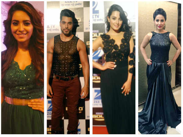 Gold Awards 2016 Red Carpet: Hina Khan, Gautam Gulati, Karishma Tanna & Others Sizzle [PICS]