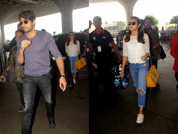 Alia Bhatt Sidharth Malhotra London Holiday Airport