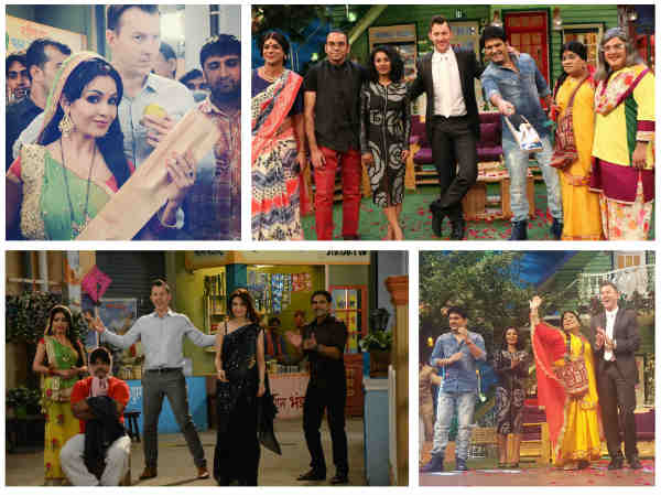 Bhabhi Ji & Kapil Sharma's Team Clean Bowled By Brett Lee! (PICS)