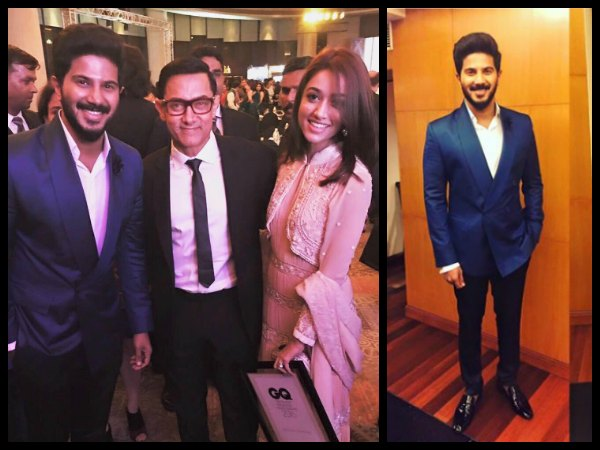 Dulquer Salmaan Receives An Award From Aamir Khan!