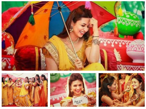 Bride-To-Be Divyanka Tripathi Glows In Yellow Lehenga At Haldi Ceremony - FRESH PICS