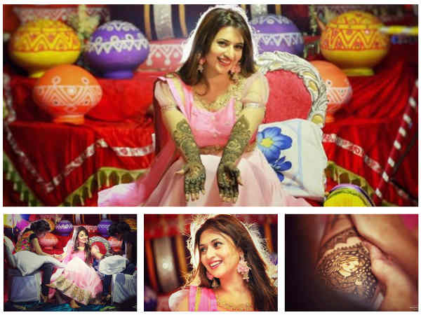 You Can't Get Over These PICS: Divyanka Tripathi Looks Pretty In Pink Dress In Mehndi Ceremony!