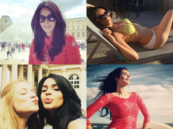 Mallika Sherawat Holidays In France Paris St Tropez Bikini