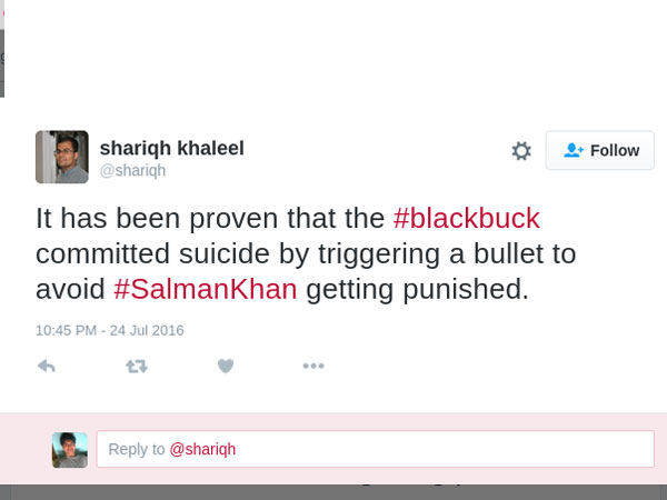 Salman Khan Trolls On Blackbuck Poaching Chinkara Trolls