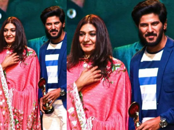 IN PICS! When Dulquer Salmaan Received An Award From Sulfath Mammootty!