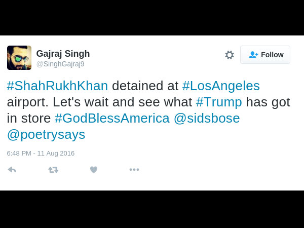 So Funny! SRK Trolled On Twitter For Airport Detention