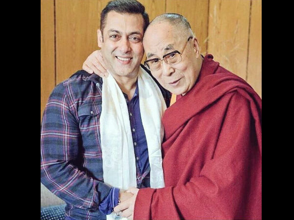 Salman Khan With Dalai Lama