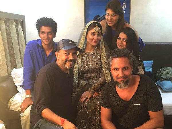 Kareena With Her Lovely Team