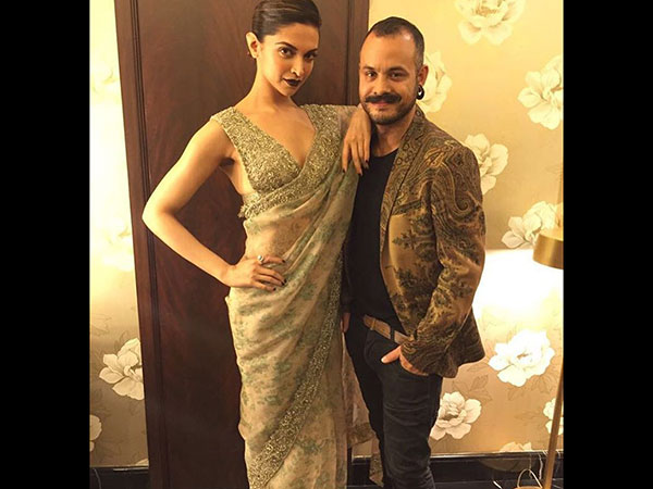 Deepika With Her Make-up Artist