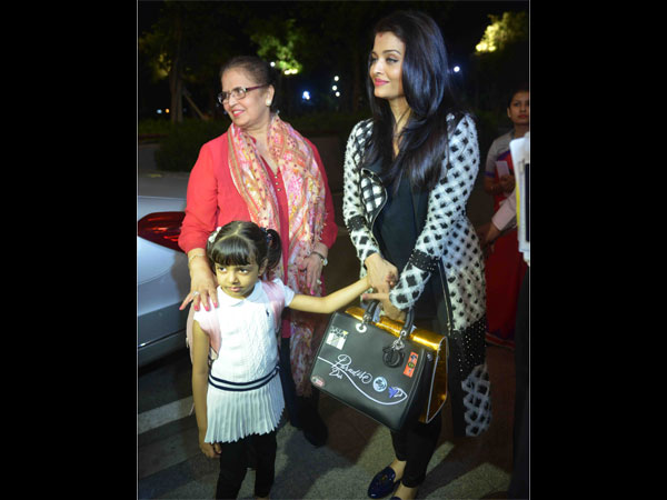 Aishwarya On Her Little Bundle Of Joy