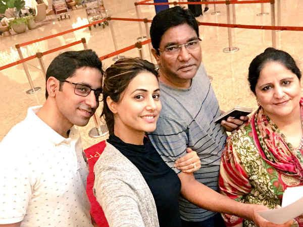 Hina Khan with family
