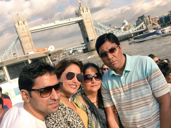 Yeh Rishta Kya Kehlata Hai Actress Hina Khan Holidays With Family