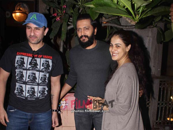 Riteish –Genelia With Saif