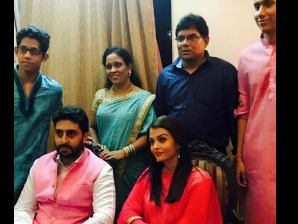 Aish-Abhi With MD's Family