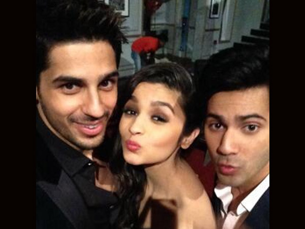 Image result for alia bhatt and sidharth malhotra and varun dhawan