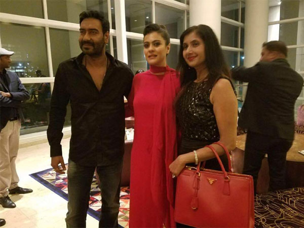 Kajol In NYC With Ajay