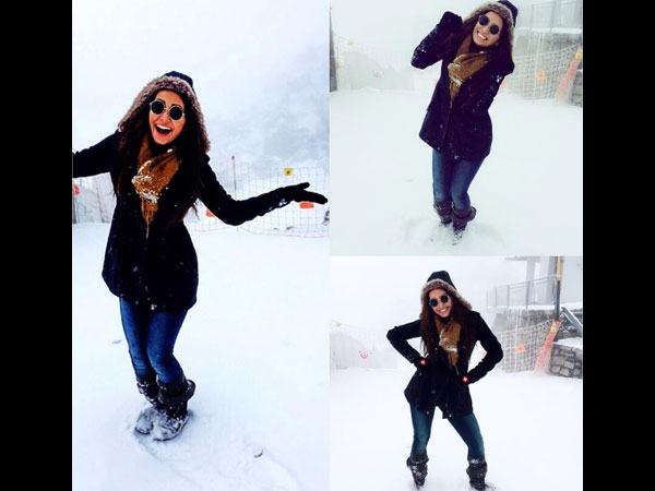 Asha Enjoying In Snow