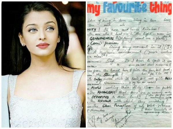 DON'T MISS! Aishwarya Rai Bachchan's Old Slam Book Messages About Love & Embarrassing Moments!