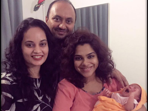 'Kaadhal' Sandhya Welcomes A Baby Girl!