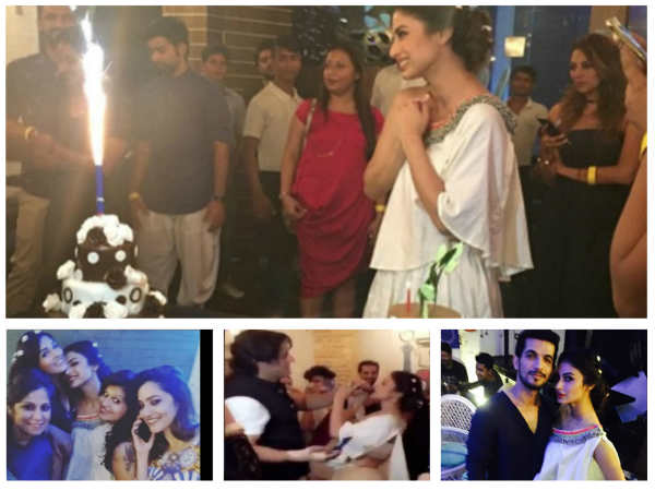 Mouni Roy Celebrates Birthday With Boyfriend Mohit Raina & Friends (PICS)